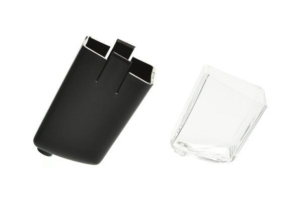 Aktivkohlefiltergehäuse mit Glasinlet für das Megahome Destilliergerät schwarz