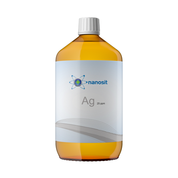 nanosit kolloidales Silber 25 ppm