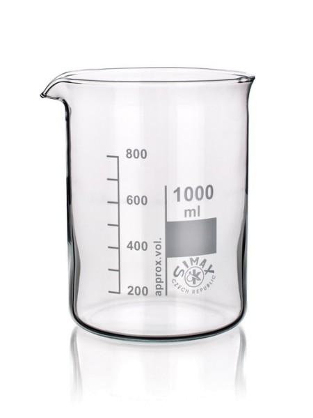 witeg Becher aus Borosilikatglas, niedere Form, 600 ml 5 500 600 B