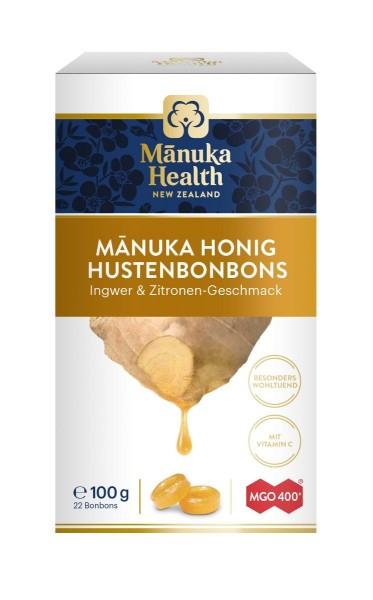 Manuka Honig Hustenbonons MGO 400+ Ingwer-Zitrone