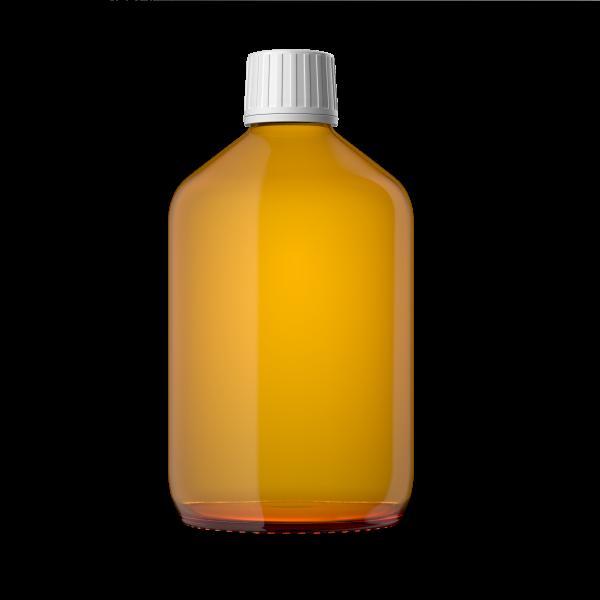 Euro Medizinflasche mit Verschluss, 500 ml