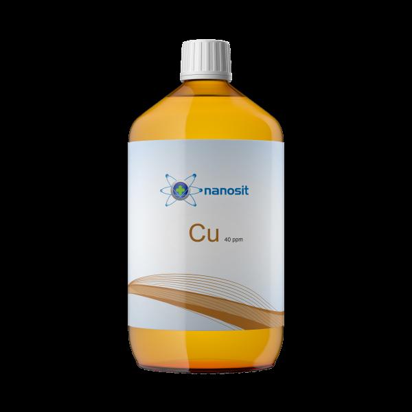 nanosit kolloidales Kupfer, 40 ppm 1 Liter