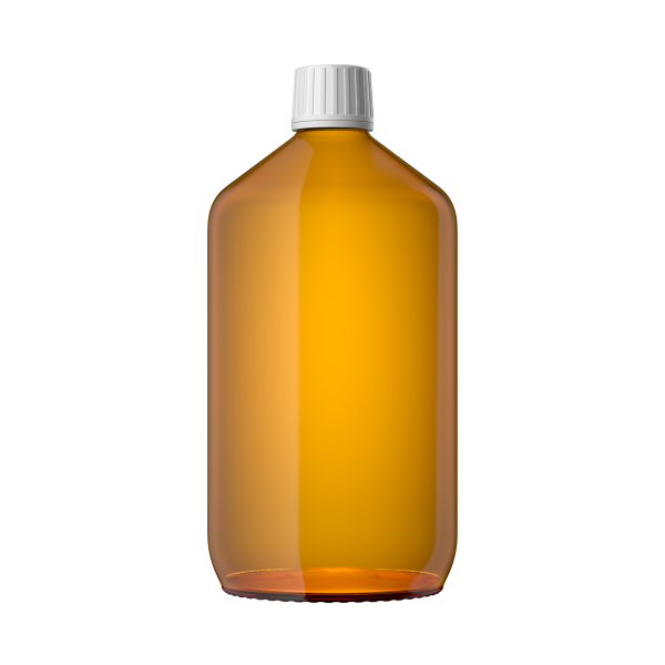 Euro Medizinflasche mit Verschluss, 1000 ml