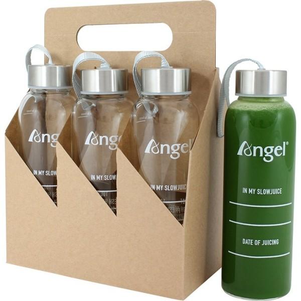 Angel Juicer Glasflasche, 360 ml (7 Stück)