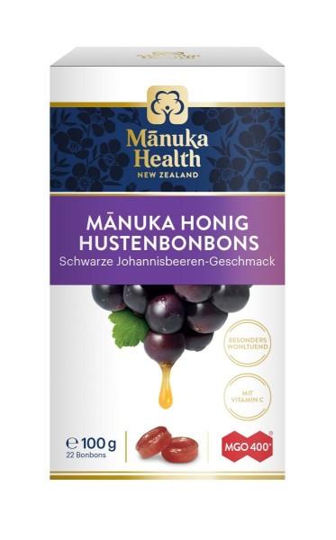 Manuka Honig Hustenbonons MGO 400+ schwarze Johannisbeere